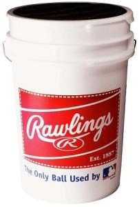Rawlings Bucket With Baseballs