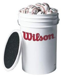 Wilson A1030 3-Dozen Bucket of Baseballs