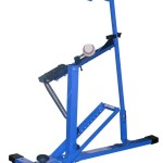 Blue Flame Pitching Machine for Perfect Baseball Practice on the Field