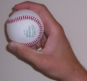 different baseball grips