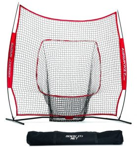 Baseball Practice Net - Rukket Sports 7 x 7 Baseball & Softball Practice Net with Bow Frame
