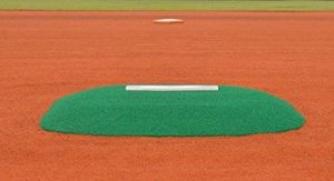Dr K's Allstar Portable Game Mound and Youth Training Fiberglass Pitching Mound with Green Turf