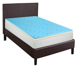 Gel Infused High Density Foam Topper for Queen Size Mattress - Best mattress for lower back pain