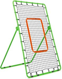Flair Sports Pitch Back Rebound Net - Baseball Softball Lacrosse - Pitching and Throwing Practice Return Net